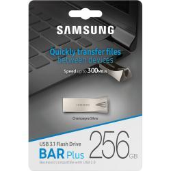 Samsung Bar Plus 256GB USB 3.1 Flash Drive 300MB/s Champagne Silver MUF-256BE3