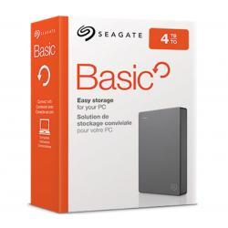 Seagate 4TB Basic USB 3.0 Portable HDD Silver STJL4000400