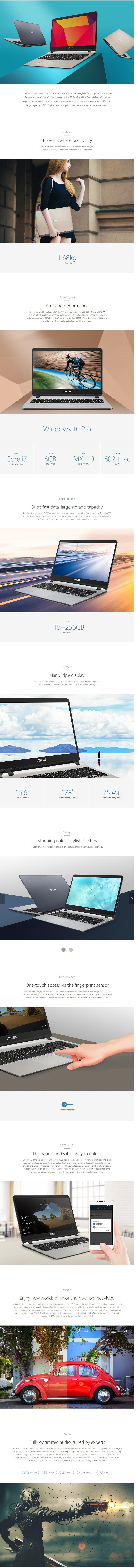 Asus Vivobook X507Ub Notebook 15 6